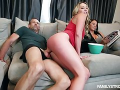Brother-in-law can't resist fucking whorish bare assed blonde Adira Allurement