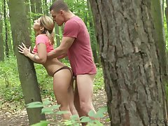Observe up fuck in the woods gives Amy strong intense orgasm