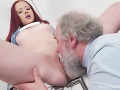 Young Tiffani Love gets fucked hard by a doyenne guy coupled with she loves it