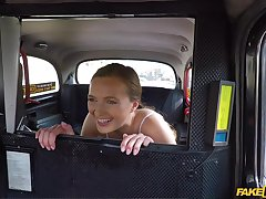 Stacy Cruz gets a catch brush pussy banged by a taxi driver in a catch car