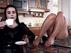 The look on this slave's face for ages c in depth her mistress is fucking her says on Easy Street all