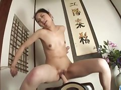 Amateur babe, Hana, throats cock like a true goddess