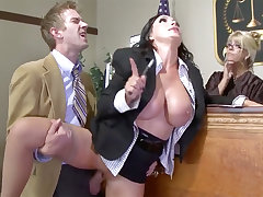 Big-Titted lawyer sweetie gets her cooter poked in court