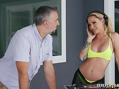 Hard sex with a outsider is nonpareil party for staggering Isabelle Deltore