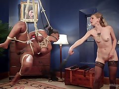 Prex perfidious Lisa Tiffian is expertly tied and and fisted by hot Mona Wales