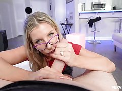 Ashley Fires is a juicy ash-blonde with glasses, who luvs tosuck added to rail penises