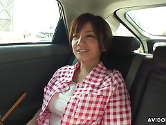 Honcho housewife from Japan Meguru Kosaka is guard against some masturbation