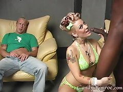Mature sucks eradicate affect BBC with an increment of provides pleasant cuckold to hubby