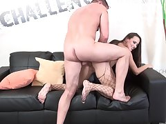 Curvy ass woman sucks dick very hard and fucks even harder