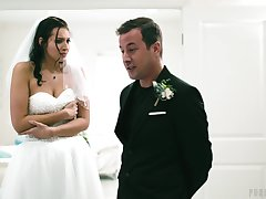 Wedding day banging for beautiful brunette china Bella Rolland