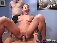 BBC cuckold fantasy becomes a definiteness and Spring Thomas is one sexy whore