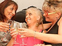 Three Of age Lesbians Having Sex - MatureNL