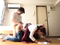 Dildoing asian teen rammed steadfast doggystyle