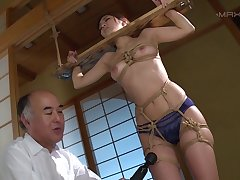 Erotic gender upon the house with factious Hana Aoyama