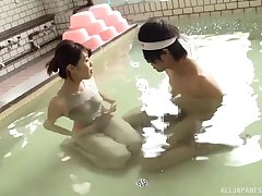 Nice lovemaking video between sexy Rina Yoshiguchi and a lucky guy