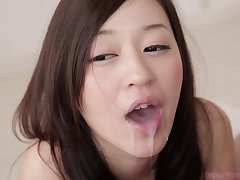 Me Sucks You Long Time asian Mollycoddle cum in mouth