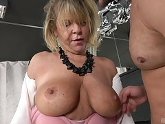 Dirty of age Renata sucks a dick and gets fucked by a younger dude