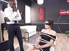 Torturous anal coition be fitting of a submissive MILF during her first interracial game