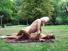 70 yr senior granddad pulverizes legitimate yr doyenne female wails and aroused