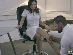 Dick hungry secretary Julia De Lucia gets fucked by her boss