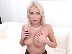 Carol Blonde in Luring in Stockings at PuffyNetwork