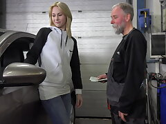 Frances takes advantage be fitting of old goes young guy close by land plum job