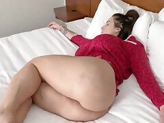 Gorgeous babe hither ample ripping is getting assfucked in the middle of the show one's age and enjoying it
