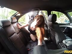 Background day: Redhead trollop earns herself an unlawful bonus