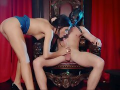 Wizened babe devours cock in submissive XXX play