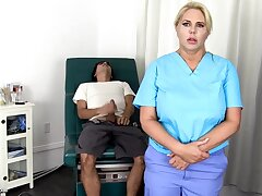 Sensuous, blondie nurse is absolutely not every chance to obtain screwed, even if she is at work