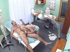 Blonde with nice tits gets a full dissection