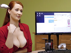 Big-Boobed red-haired mature have rigid carnal knowledge for money