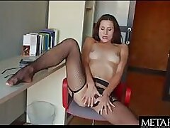 Hot girl in lingerie to masturbate