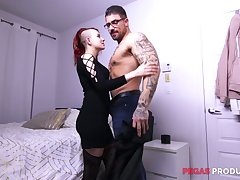 Two unstintingly endowed doublet fuck furiously slutty emo boyfriend Lydya Moser