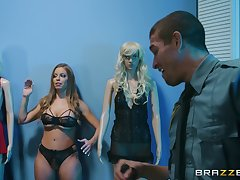 horny Britney Amber enjoys amazing fuck adjacent to the cabine thither will not hear of friend